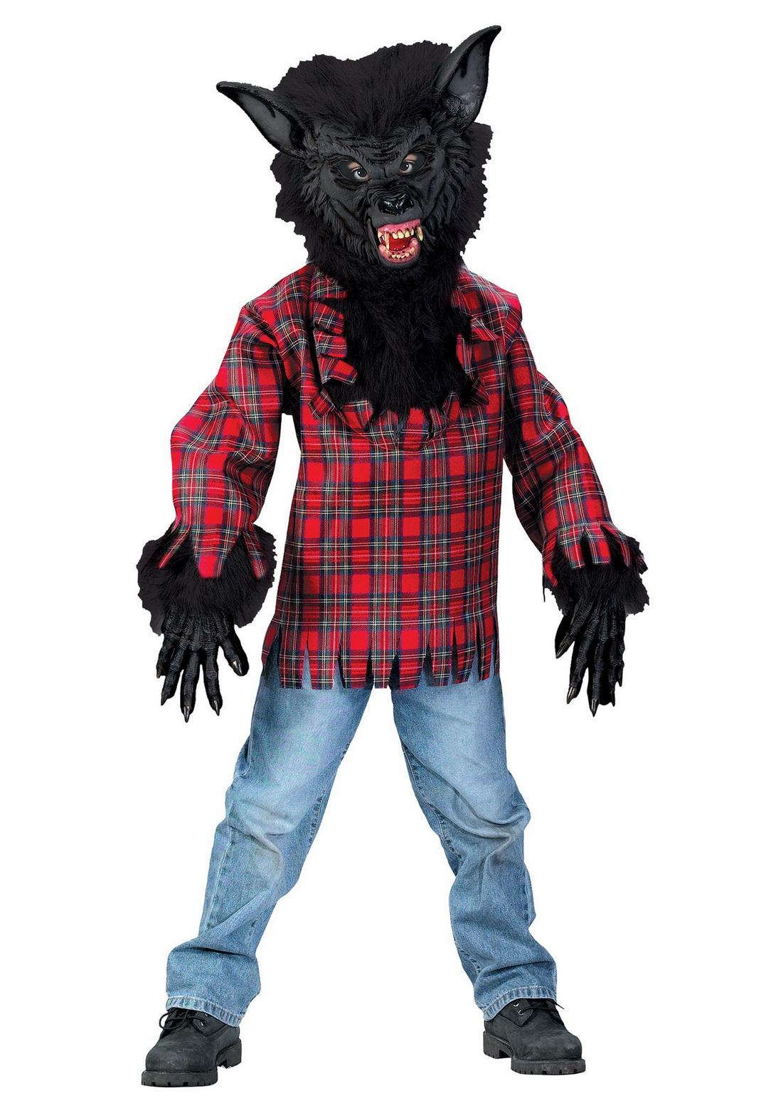 Child Black Werewolf Costume