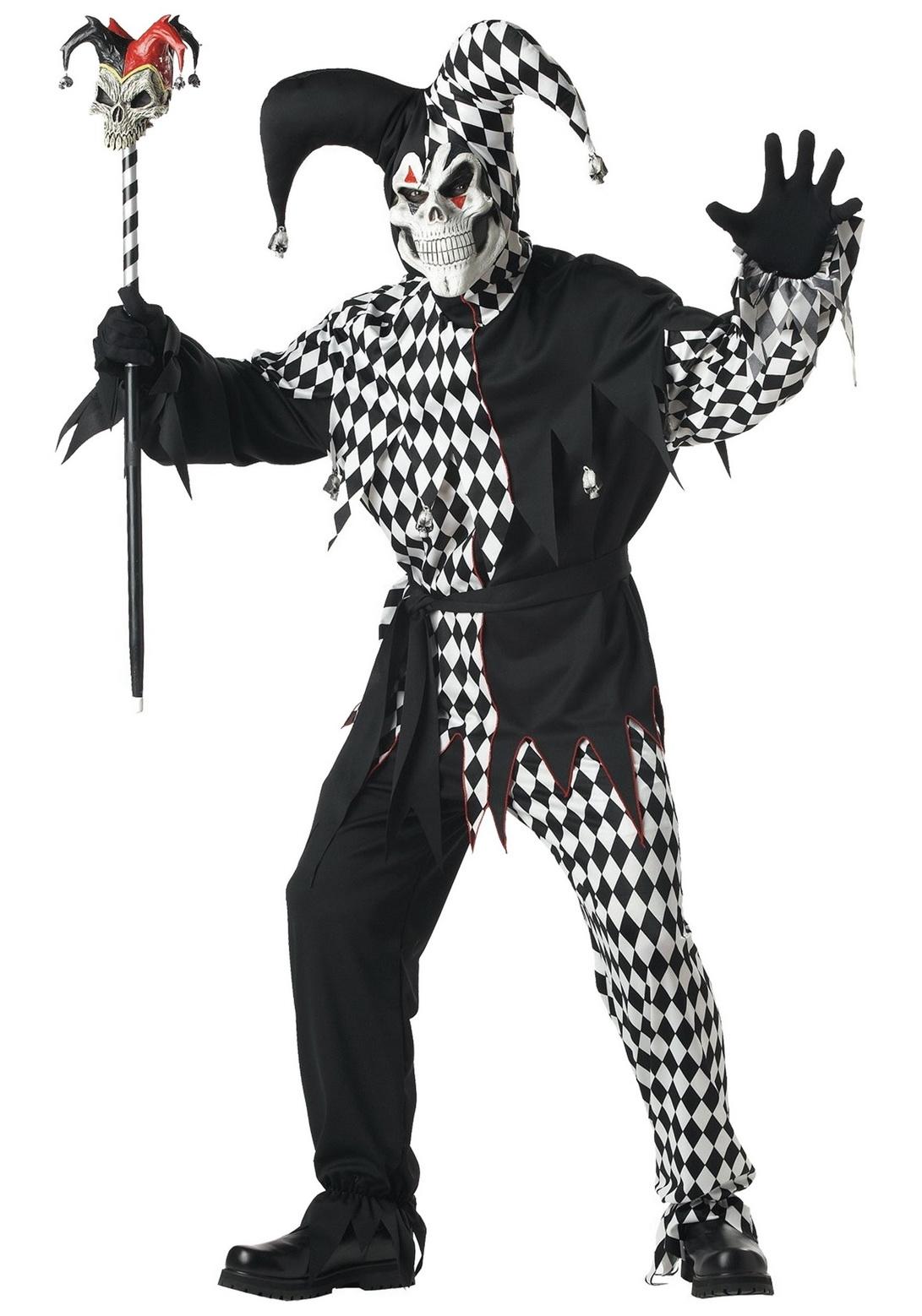 Adult Dark Jester Male Costume