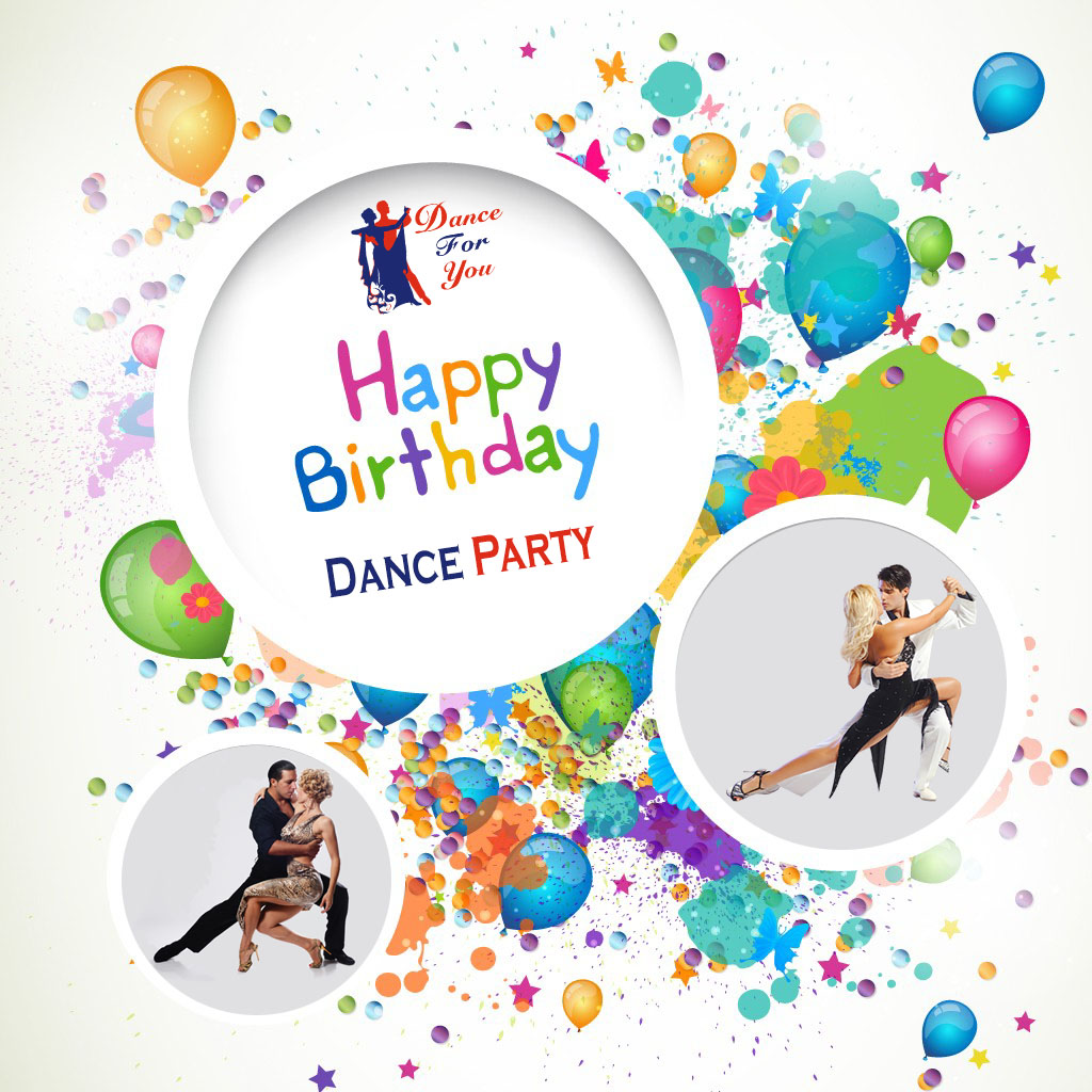 Happy Birthday dance party card