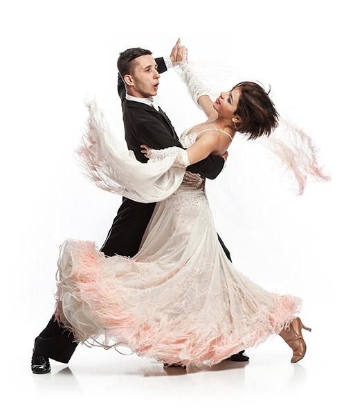 Couple dancing standard ballroom programm waltz