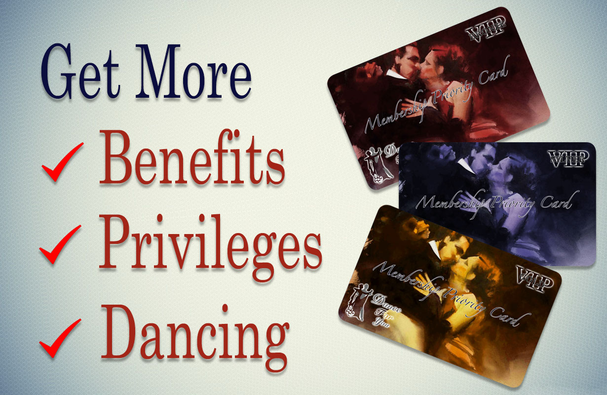 Dance For You Membership cards Wallapaper: Bronze, Silver, Gold
