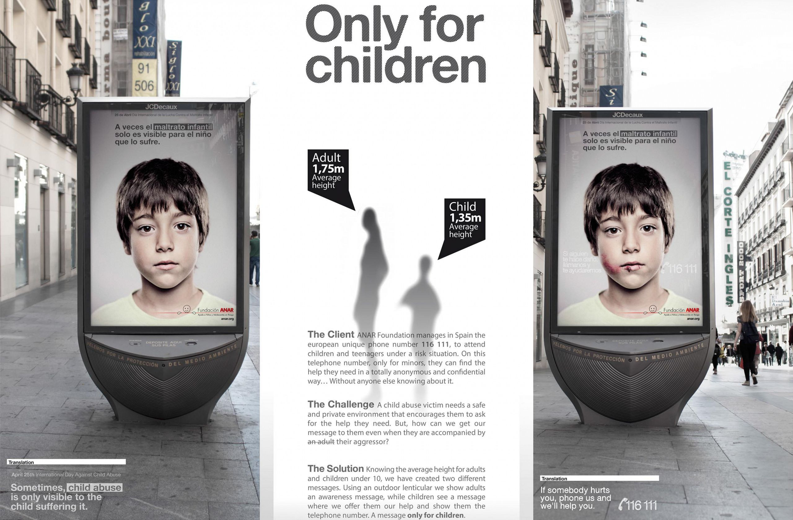Children abuse lenticular poster ads